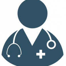Graphic design placeholder with stethoscope